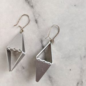 vintage 90's geometric diamond dangle earrings
